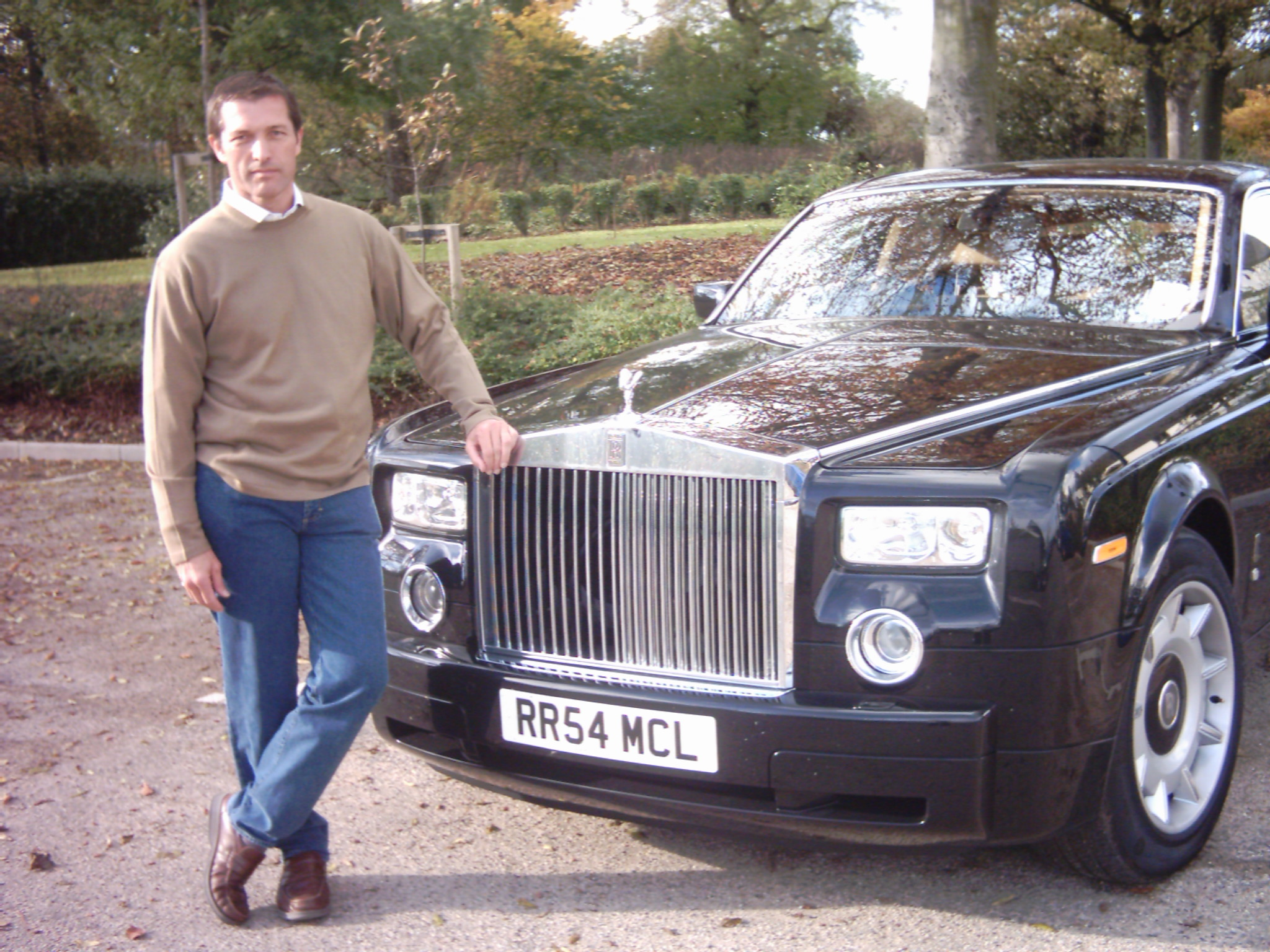 Philip Delancy Playing Multi Millionaire Rolls Royce